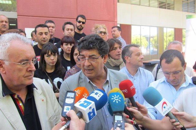 Diego Valderas con Cayo Lara en Sevilla