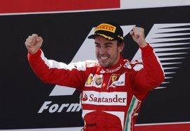 """Alonso (Ferrari), en el primer cajón del podio: """"Ganar en casa es indescriptible"""""""