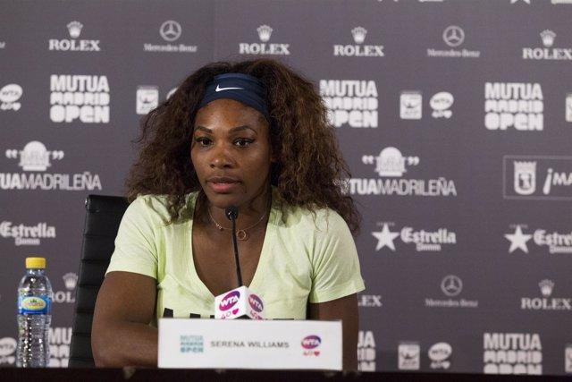 Serena Williams, en rueda de prensa