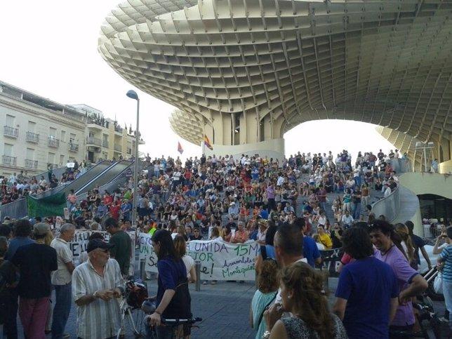 La manifestación de este domingo en Sevilla