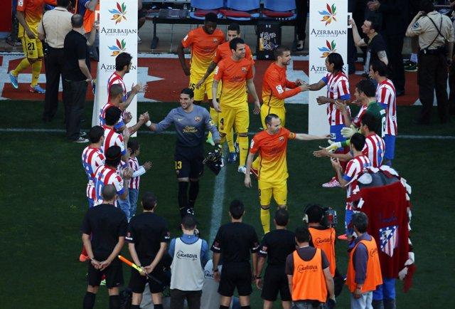 El Barça celebra la Liga en el Calderón