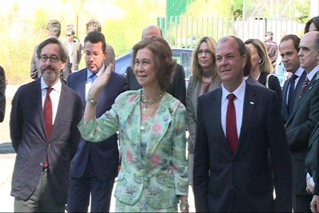 La Reina Doña Sofía en Mérida
