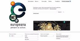 Europeana liburutegi digitaleko hasierako orria