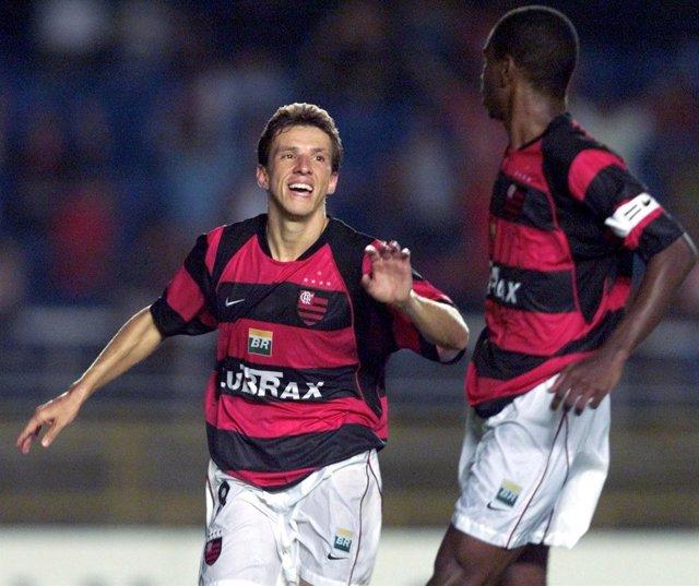 Juninho Paulista en su etapa en el Flamengo. Ex del Atlético