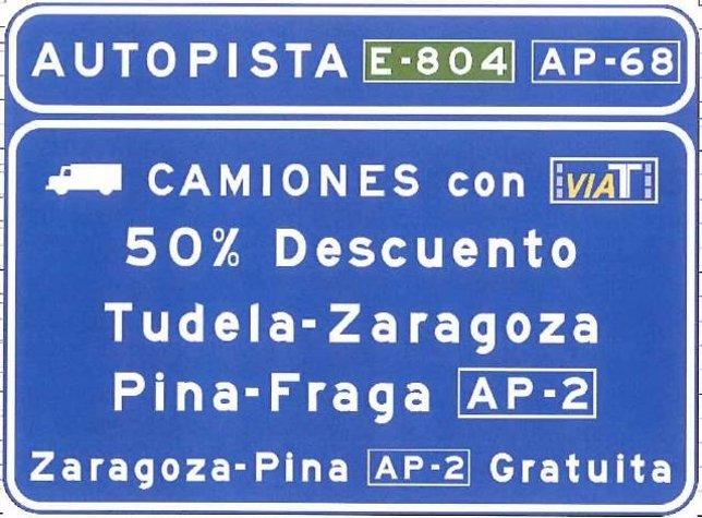 Cartel de la AP-68