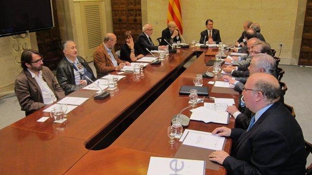 Reunión del Acuerdo Estratégico, presidida por Artur Mas