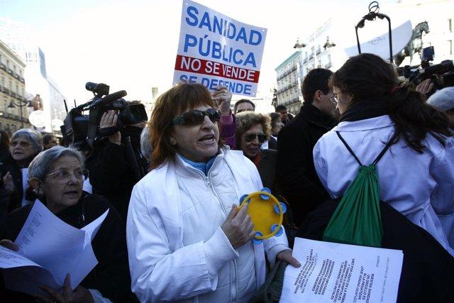 Huelga de los médicos en Madrid