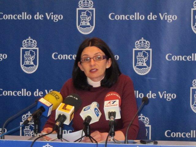 Iolanda Veloso en rueda de prensa en Vigo