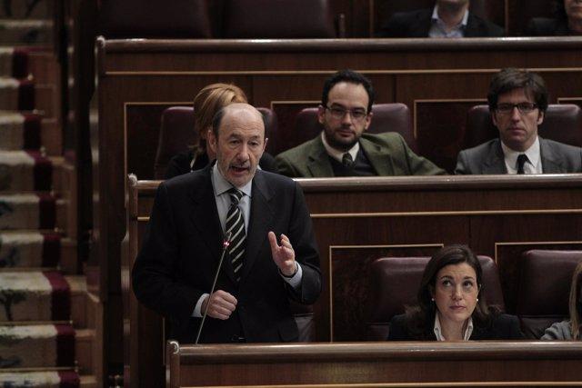 Alfredo Pérez Rubalcaba y Soraya Rodríguez, del PSOE
