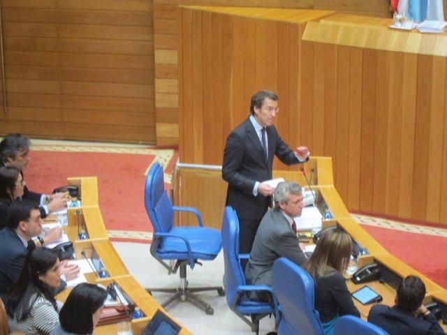Alberto Núñez Feijóo en el Parlamento de Galicia