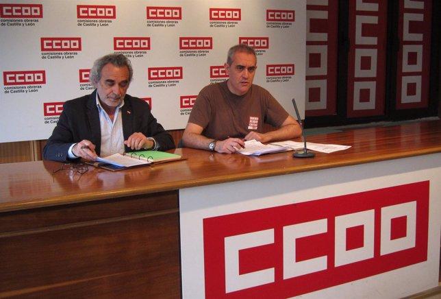 Los representantes sindicales de CC.OO Jaime Redondo y Jesús Marina