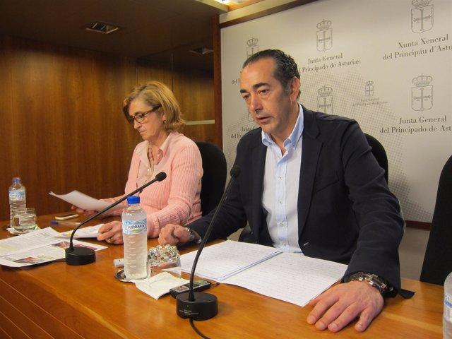 Goñi y Delgado en rueda de prensa.