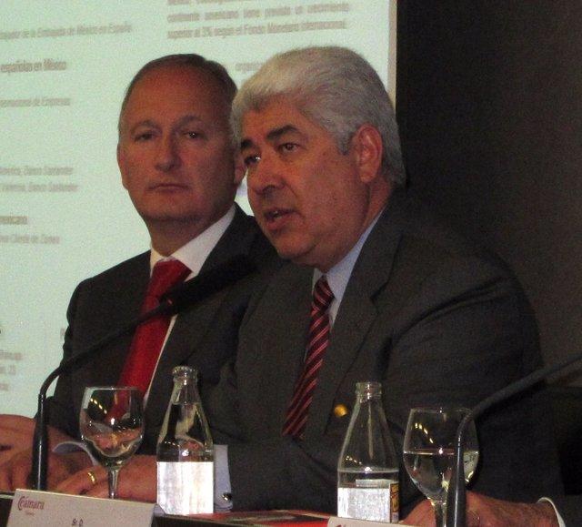 El embajador de México en España, Francisco Javier Ramírez Acuña, en la jornada.