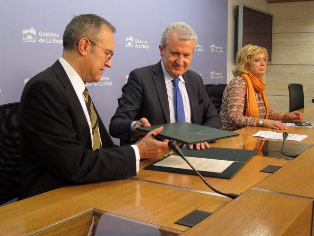 Del Río firma convenio con el Centro Riojano de Madrid