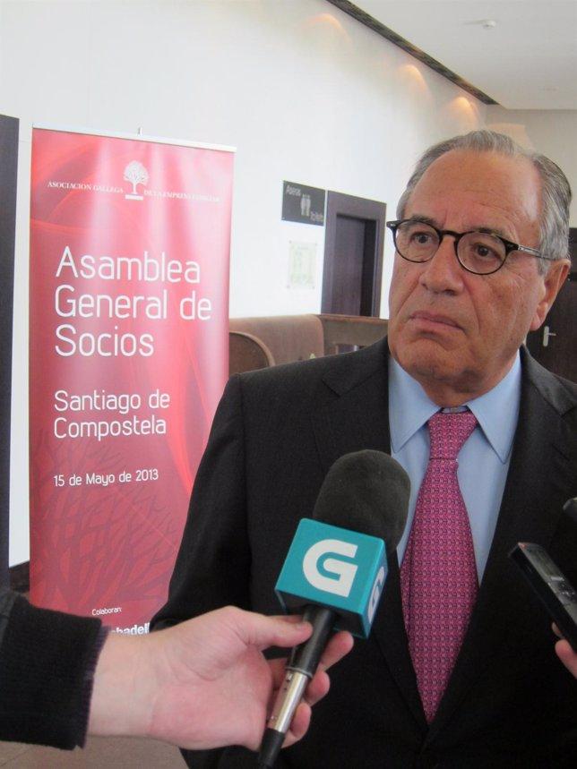 El pesidente de la asociación gallega de empresa familiar, Emilio Pérez
