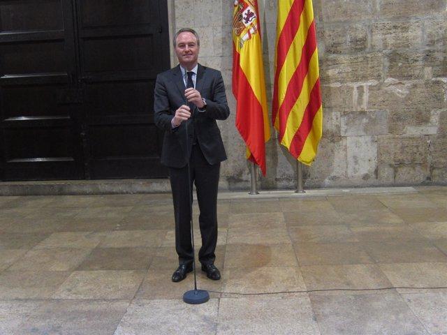 Alberto Fabra en el Palau de la Generalitat
