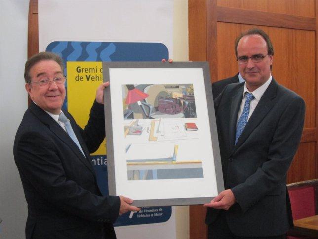 M. Donnay (Gremio del Motor) y  A.Llúzar (Gestores Administrativos de Catalunya)