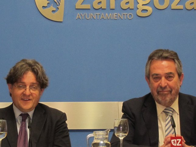 El juez Fernández Seijo y el alcalde de Zaragoza, Belloch
