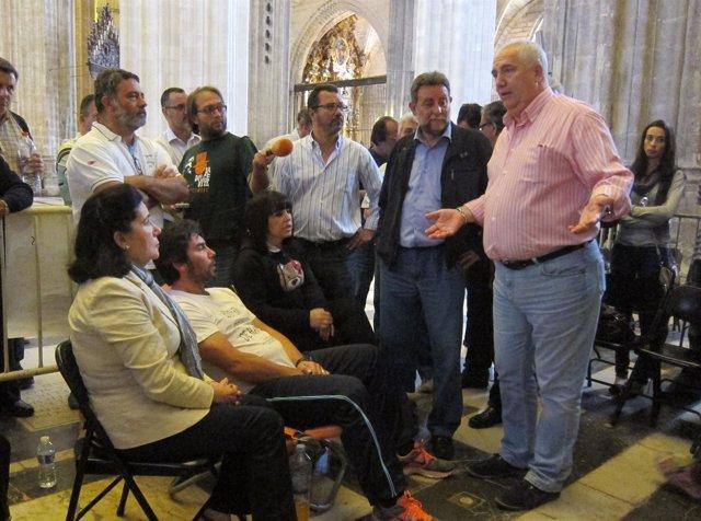 Francisco Carbonero y Francisco Fernández, hoy en la Catedral de Sevilla.