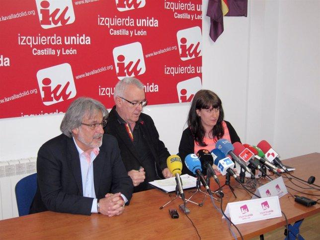 Cayo Lara junto a José María González y María Sánchez