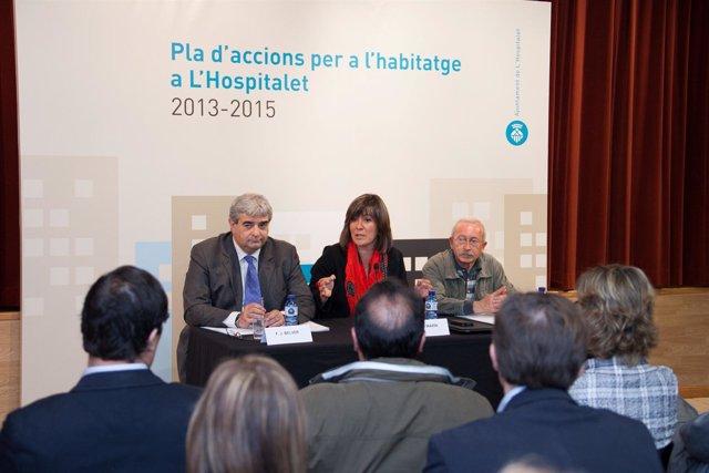La alcaldesa de L'Hospitalet N.Marín presenta el programa de vivienda