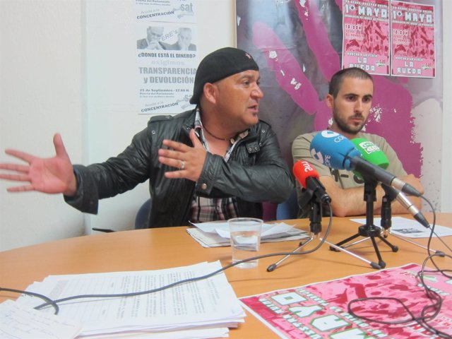 Bódalo y Moreno, en la rueda de prensa sobre la finca que pide trabajar el SAT