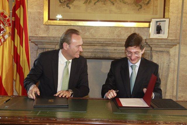 Firma del convenio para becas de Bankia de FP Dual