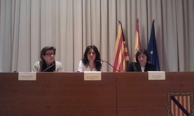 Catalina Cirer, Sandra Fernández y Aina Ferriol