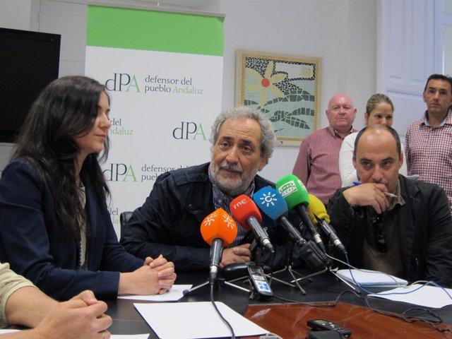 Granada Santos, José Chamizo y el abogado Luís de los Santos