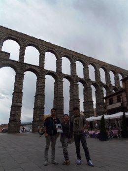Periodistas chinos en Segovia