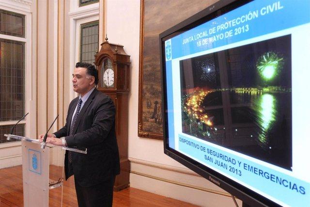 Presentación dispositivo seguridad San Juan en A Coruña