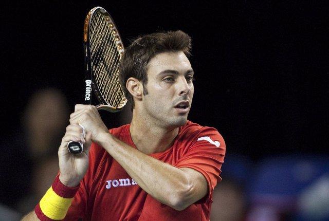 Marcel Granollers en la Copa Davis con España