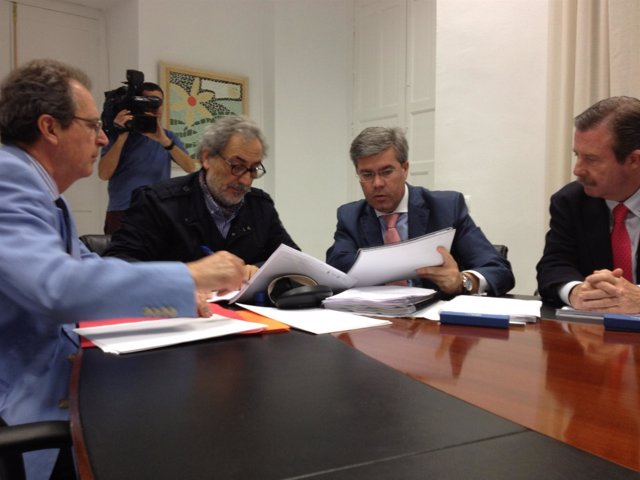 Fernández de Moya junto a Chamizo hoy