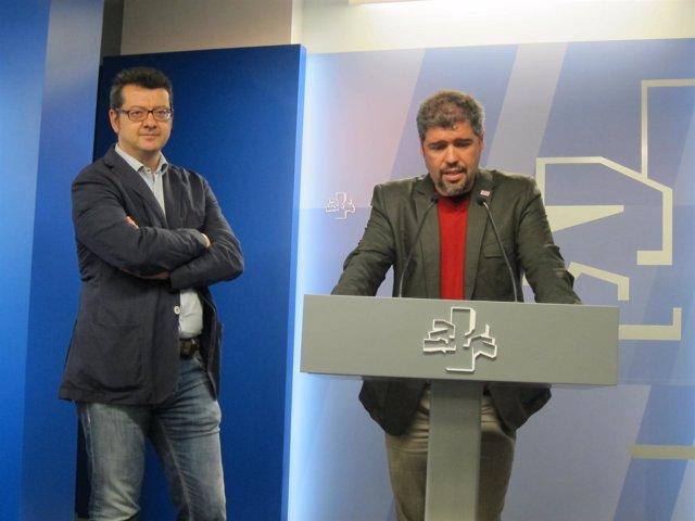 Los representnates del a cumbre social vasca edmundo rodriguez y Unai sordo