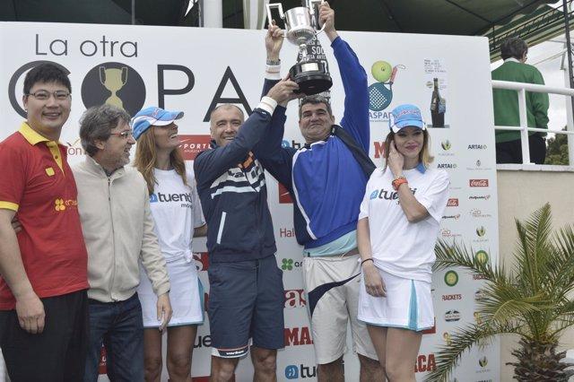 Roberto Fresnedoso y Milinko Pantic, ganadores del Desafío Pádel