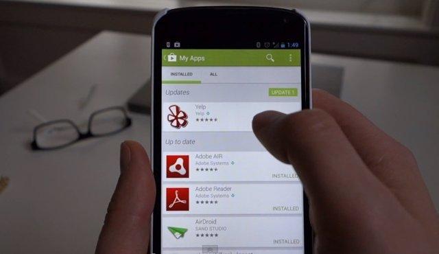 La nueva interfaz de Google Play Store 4, filtrada en vídeo