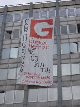 Cartel Corrugados Madrid