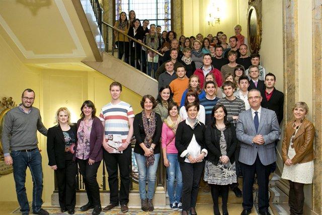 Recepción a los alumnos de la 'Walter Euchen Schule de Karlsruhe'