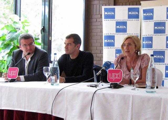 Fernando Llopis, Toni Cantó y Rosa Díez