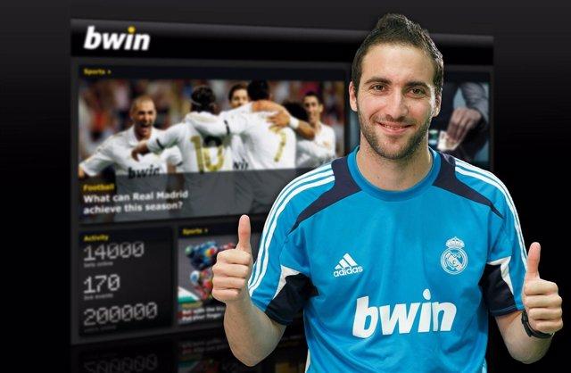 El delantero del Real Madrid Gonzalo Higuaín