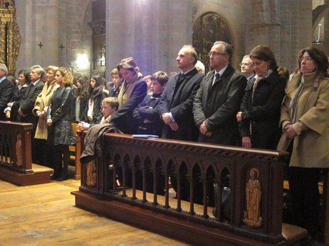 Funeral en recuerdo de Alfredo Landa en Pamplona.