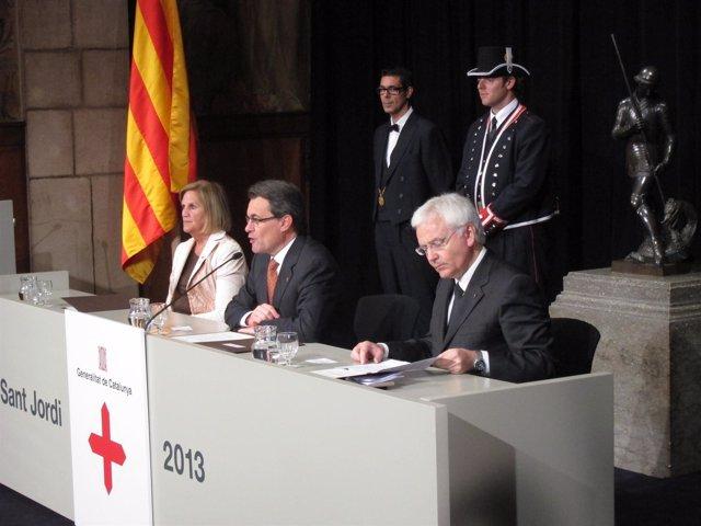 Acto De Entrega De Les Creus De Sant Jordi