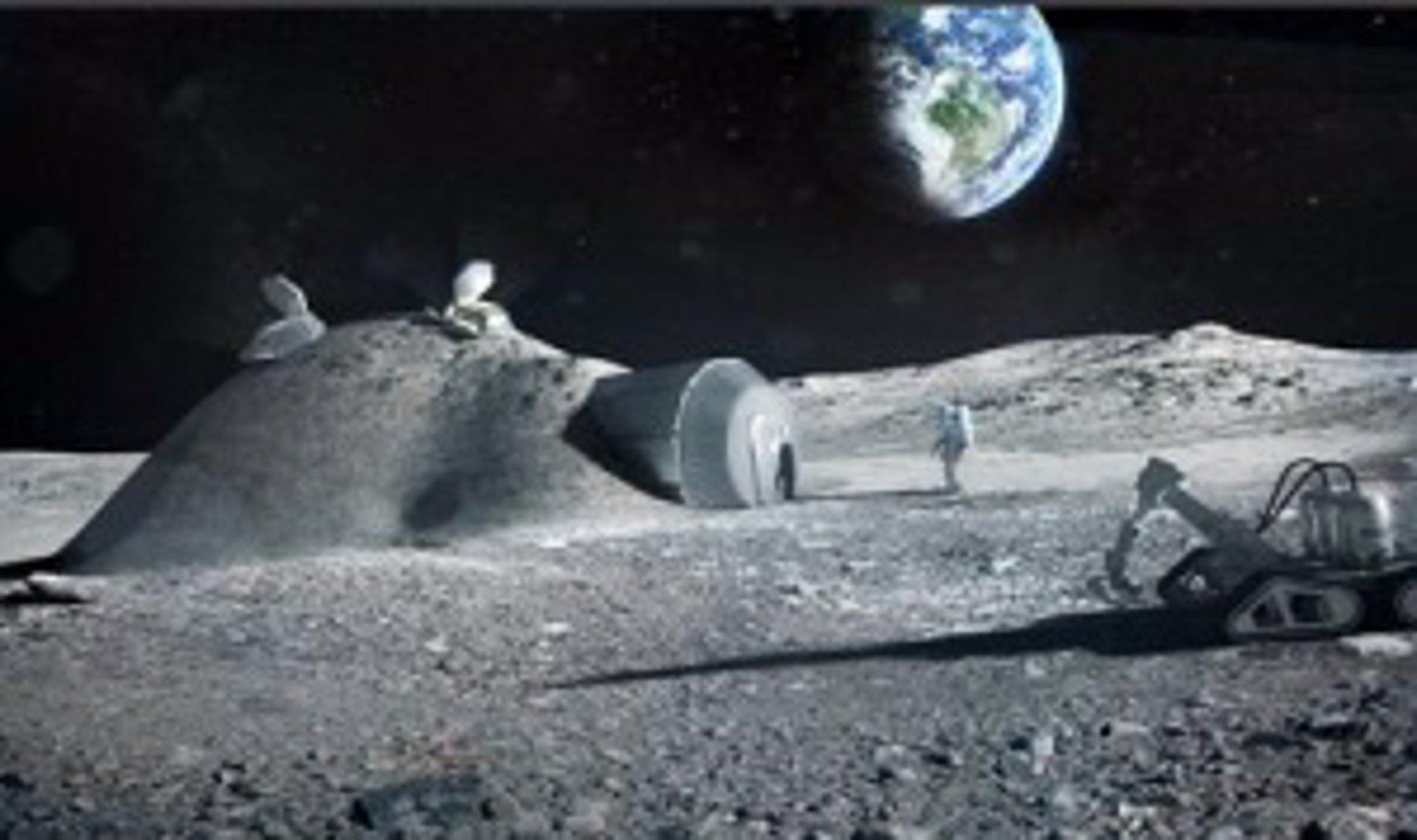 La ESA proyecta construir una base lunar enviando una impresora 3D