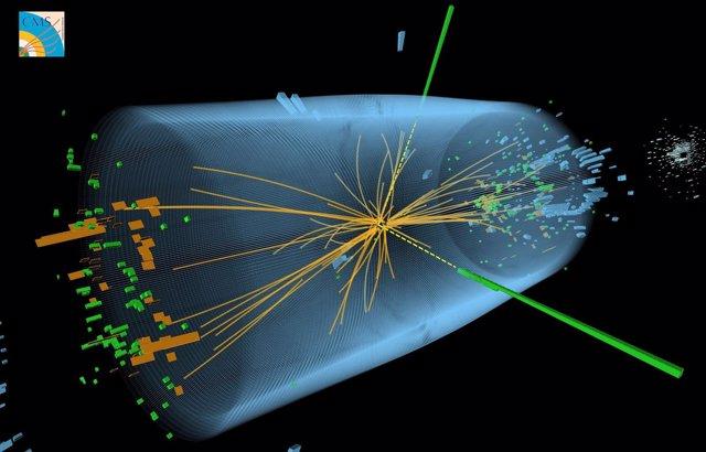 Imagen de la partícula Bosón de Higgs