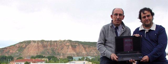 Urbano Espinosa y el investigador Sergio Larrauri