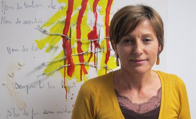 Carme Forcadell, presidenta de la Assemblea Nacional Catalana (ANC)