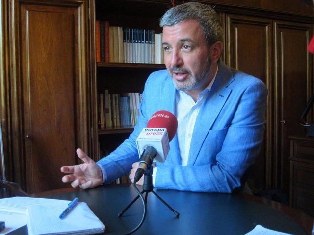 El portavoz del PSC, Jaume Collboni.