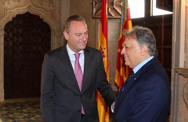 El presidente de la Generalitat, Alberto Fabra, recibe en audiencia  Zubin Mehta