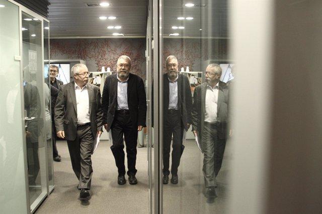 Los líderes de CCOO y UGT , Ignacio Fernández Toxo y Cándido Méndez