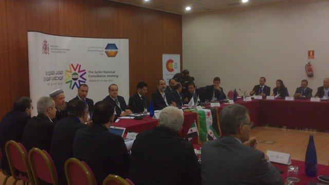 Reunión de opositores sirios en Madrid
